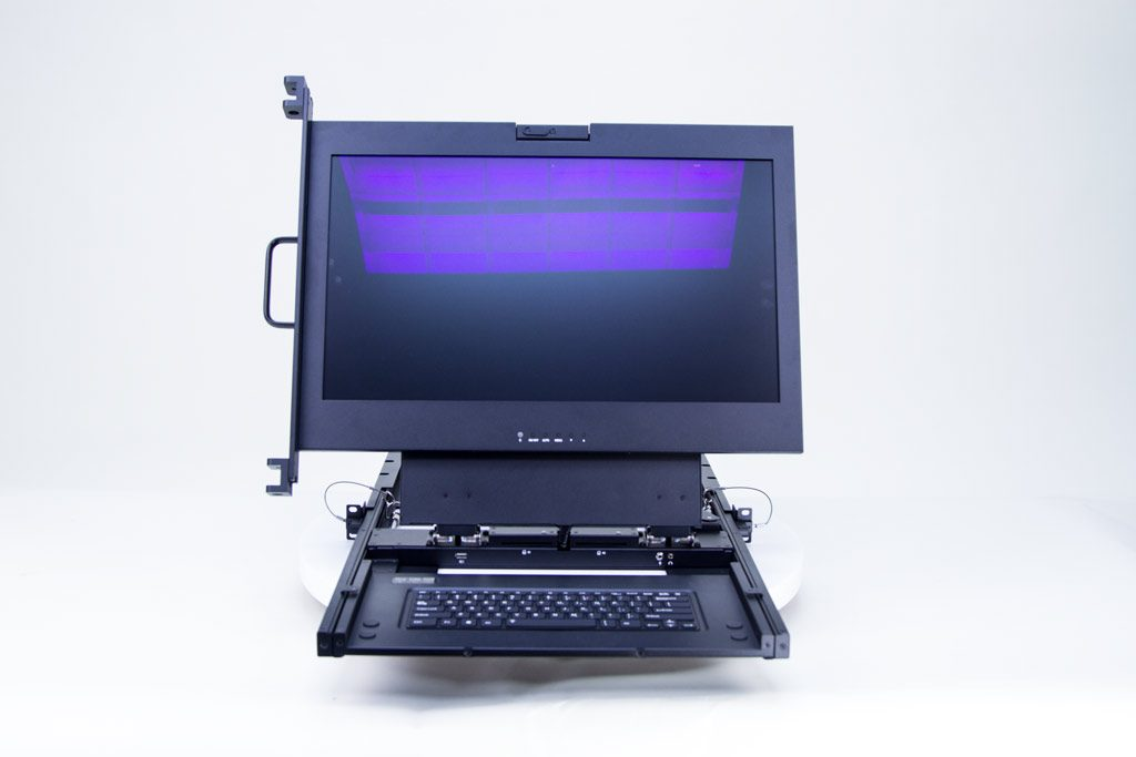 "1U 23"" rack-mount display"